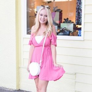 Revolve Pink Wrap Dress